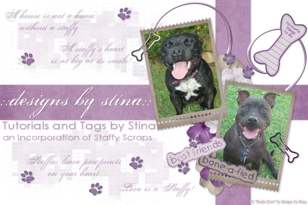 ::designs by stina:: Tutorial & Tags (an incorporation of Staffy Scraps)
