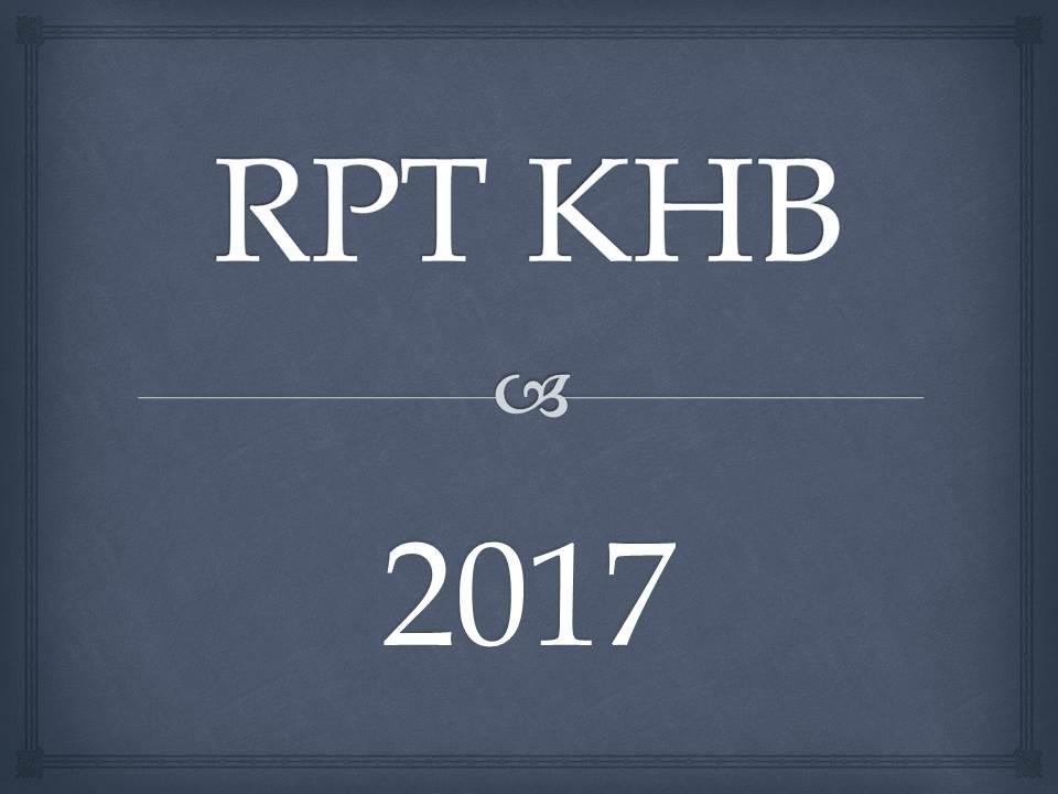 RPT KHB 2017