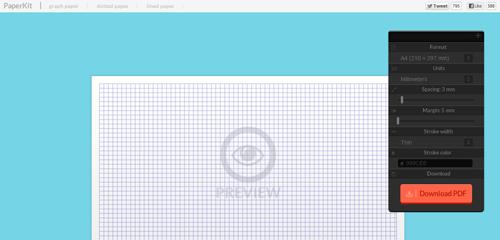 Paperkit crea tus hojas cuadriculadas online - No Entres a Mi Blog