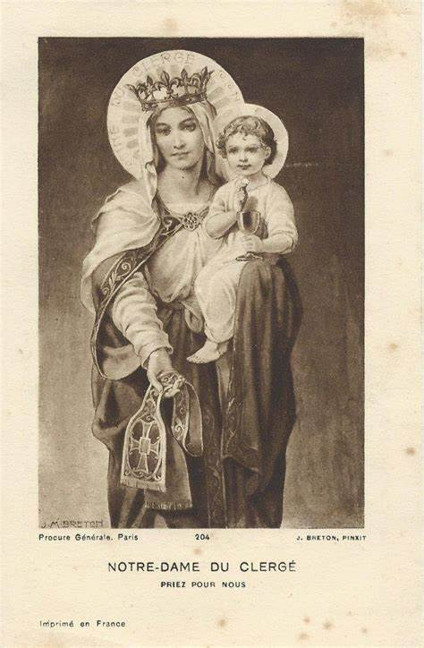Our Lady of the Clergy, Pray For Us