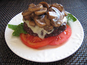 Low Carb Mushroom Swiss Burger
