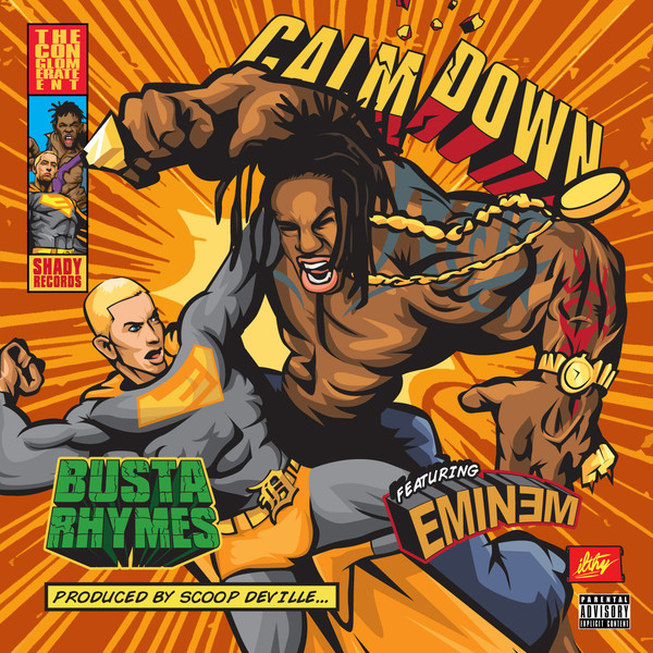 Busta Rhymes - Calm Down (feat. Eminem) - Single Cover
