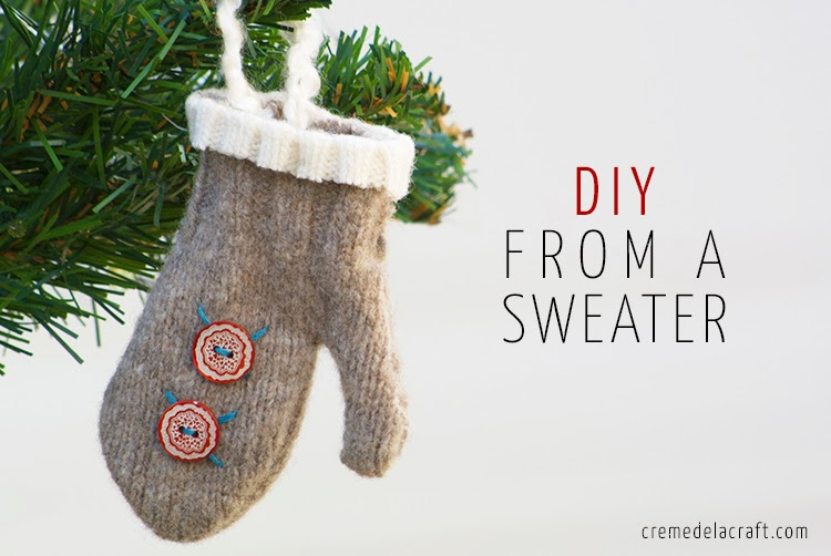 Diy Mini Mitten Ornaments From An Old Sweater