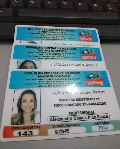 ATENÇÃO FILIADOS-NOVA CARTEIRA