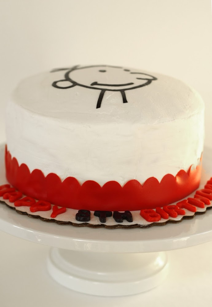 Diary of a wimpy kid homemade cake