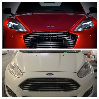 Ford Fiesta vs. Aston Martin Rapide S: Design Similarity