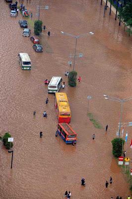 Foto Banjir Jantung Kota Jakarta