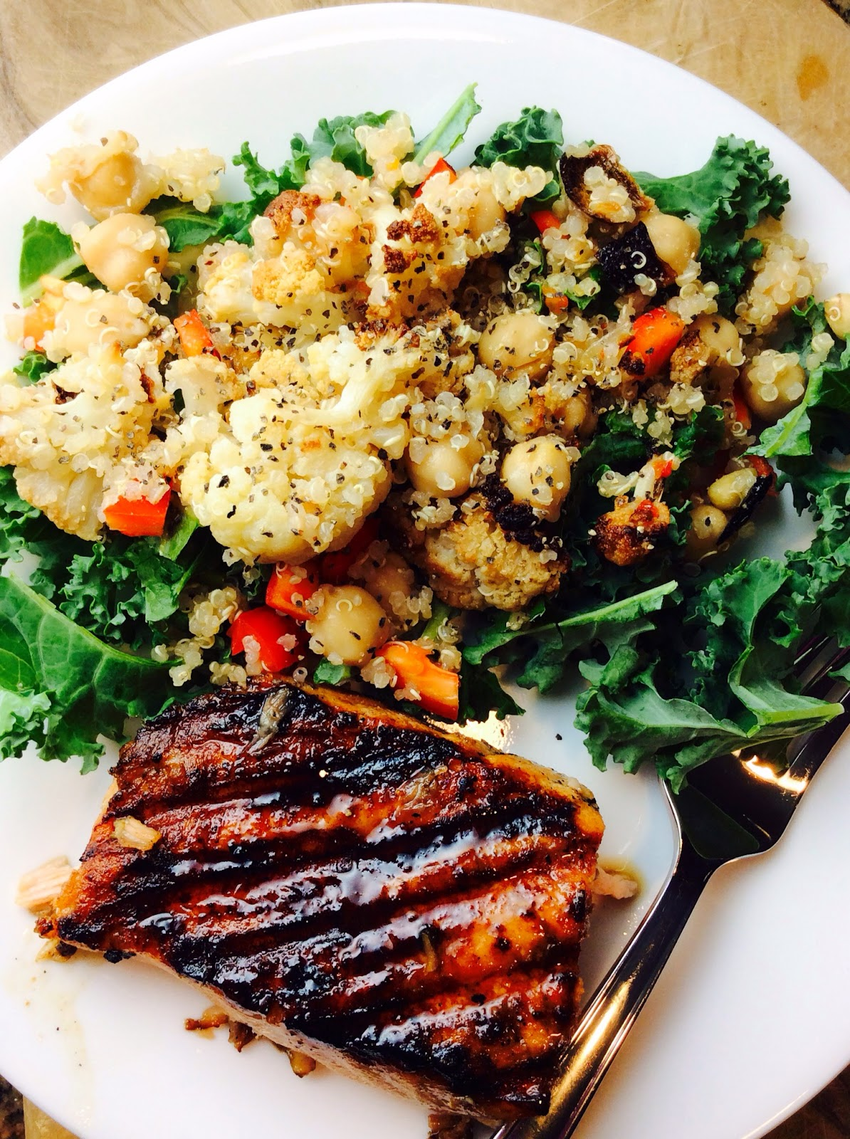 Food Fitness by Paige: Roasted Cauliflower Garbonzo Bean ...