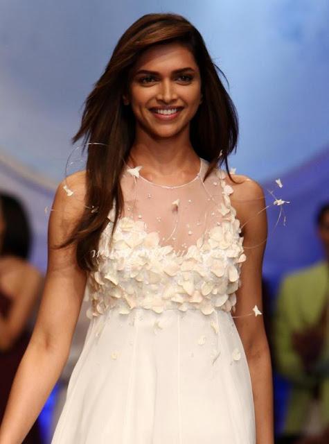 Deepika Padukone White Wedding Dress Wlifw 2012