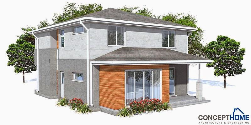 Plantas de casas pequenas planta de casa pequena ch111 for Antejardines de casas pequenas