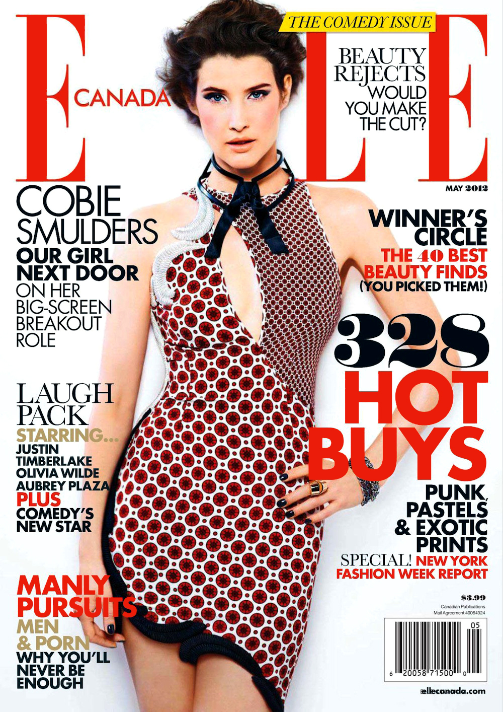 Elle Canada May 2012: Cobie Smulders by Giuliano Bekor
