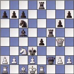 Partida de ajedrez Barrababe vs Vivas Font, Memorial Puig y Puig 1950, posición después de 20…Rd3