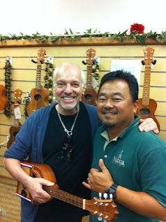 Peter Frampton with ukulele