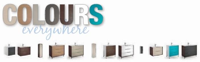 Mueble Baño Turquesa:Colección COLOURS de muebles de baño con el acabado azul turquesa