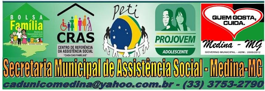 Sec. Municipal de Assistência Social  -  Medina-MG