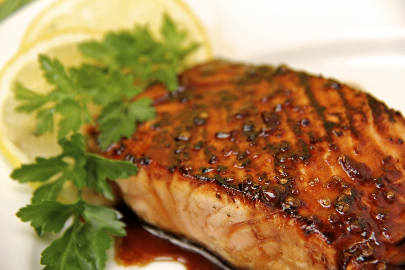 Baked Honey Ginger Glazed Salmon