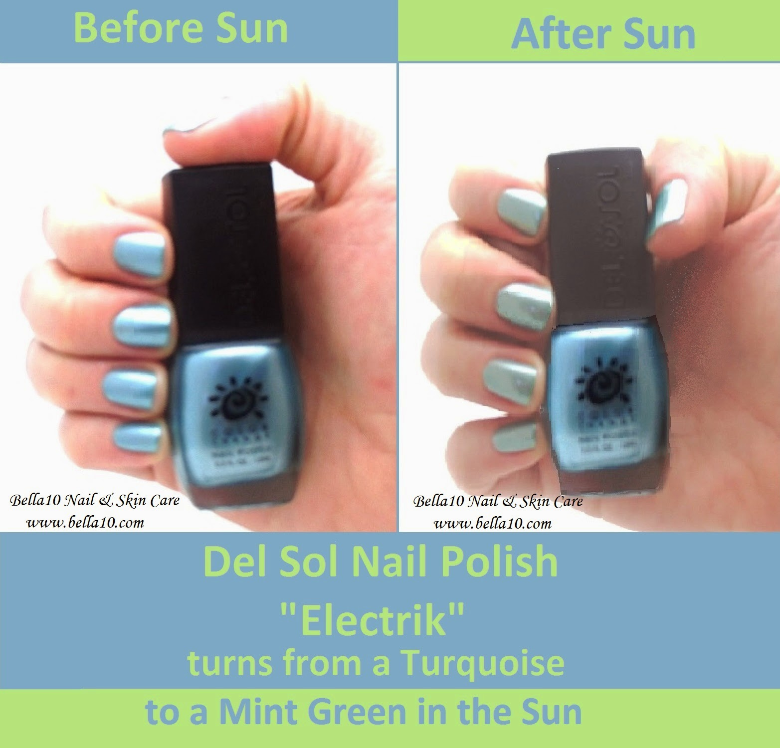 Bella10 Nails: Fun in the Sun - Color Changing Nail Polish! - Part 2