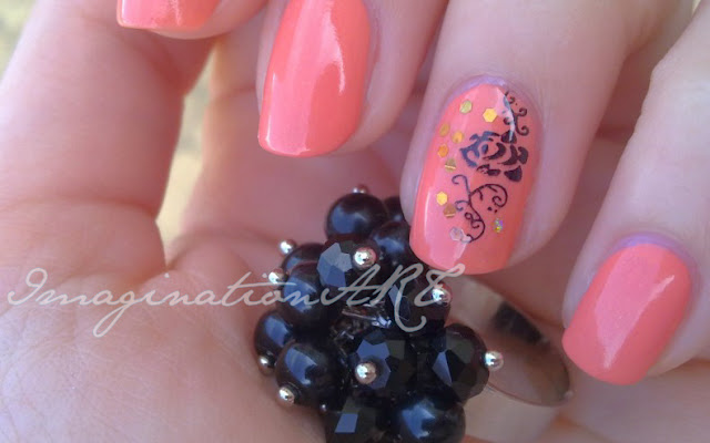 nail_art_semplice_simple_easy_facile_orange_arancione_estiva_estate_summer_essence_stamping