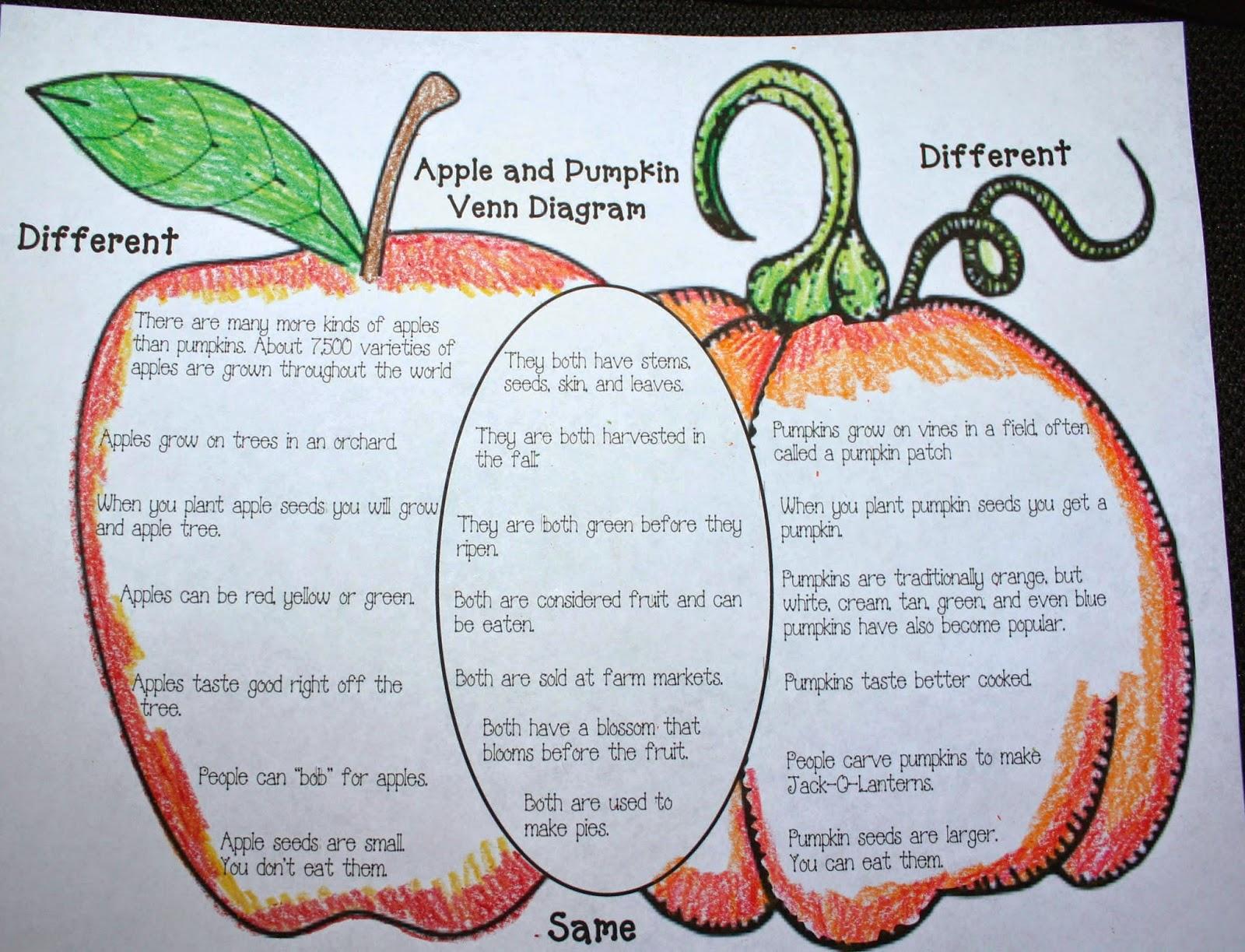 Classroom Freebies  Apple Pumpkin Venn Diagram