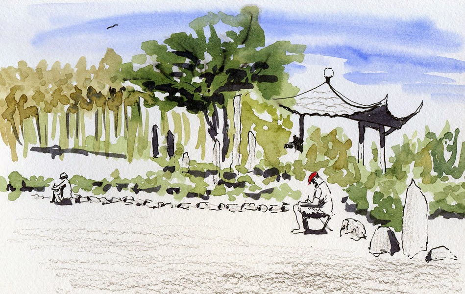 "Urban Sketchers Seattle: ""Opening Day"" at Seattle Chinese Garden"