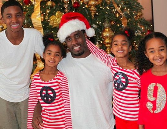 p diddy christmas card children