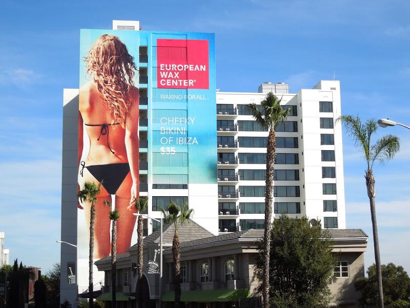 Giant European Wax Center bikini billboard
