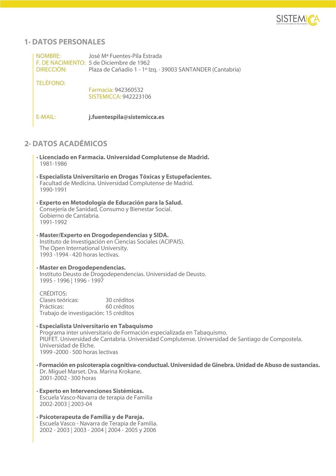 fuentes-pilastv: Aquí os dejo mi currículum profesional