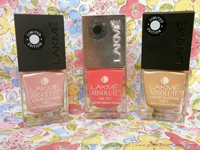 Lakme Absolute Illusion Nails in Desire, Fantasy and Nail Tint in Fuscia Sorbet