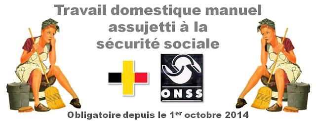 Titres-Services - Région Bruxelles-Capitale - Travail domestique manuel assujetti à la sécurité sociale depuis octobre 2014 - Bruxelles-Bruxellons