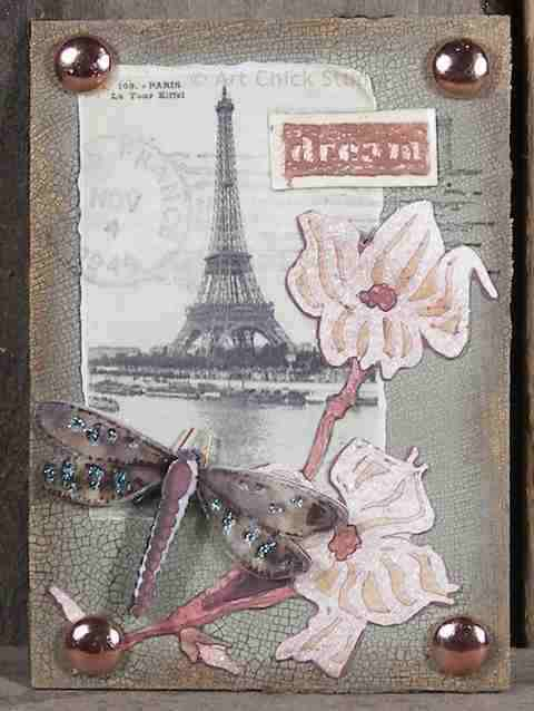 Dream of Paris Altered Art ATC