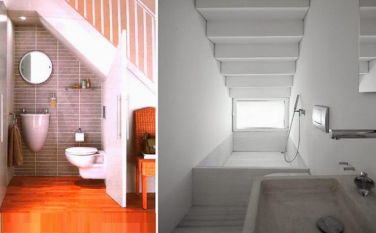 Decotips under the stairs virlova style for Bano bajo escalera