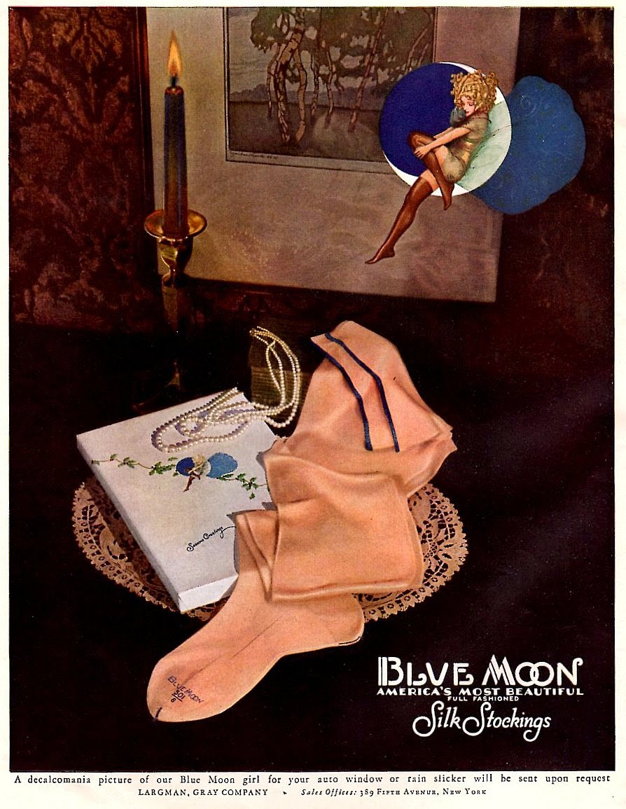 Blue Moon - America's Most Beautiful Full Fashioned Silk Stockings.