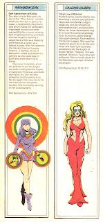 Arco Iris y Reina Caloria (ficha dc comics)