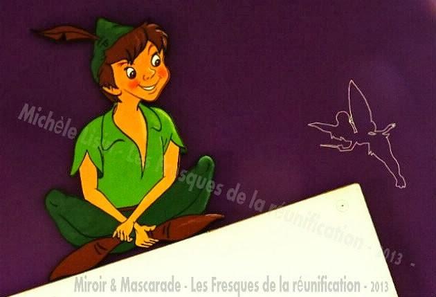 Miroir et mascarade ecole en fresques - Fee clochette assise ...