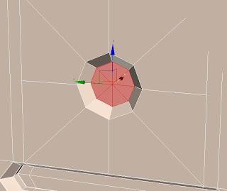 Desplazar polígonos en 3ds max.