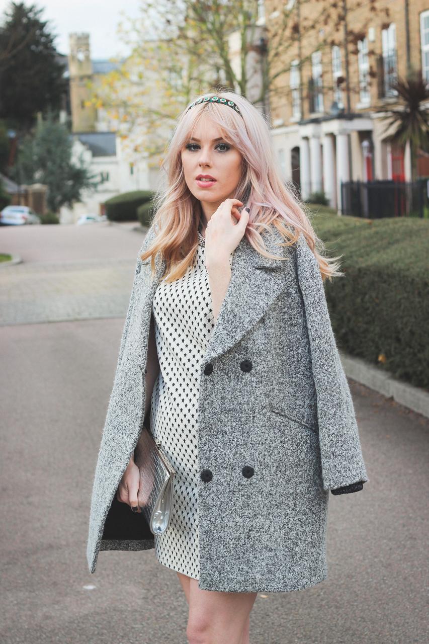 Topshop Grey Coat - UK Fashion Blogger