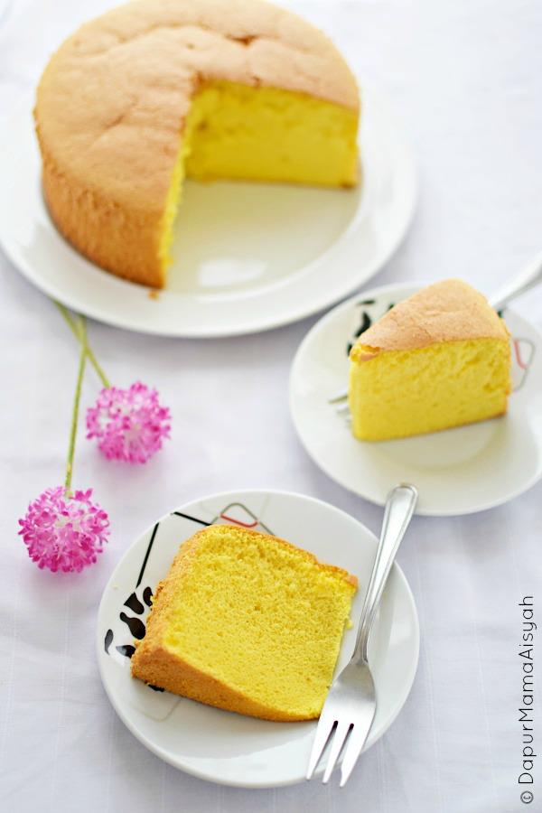 Dapur mama aisyah vanilla sponge cake bolu vanila for Basic vanilla sponge