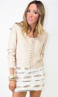 Studded Tweed Jacket