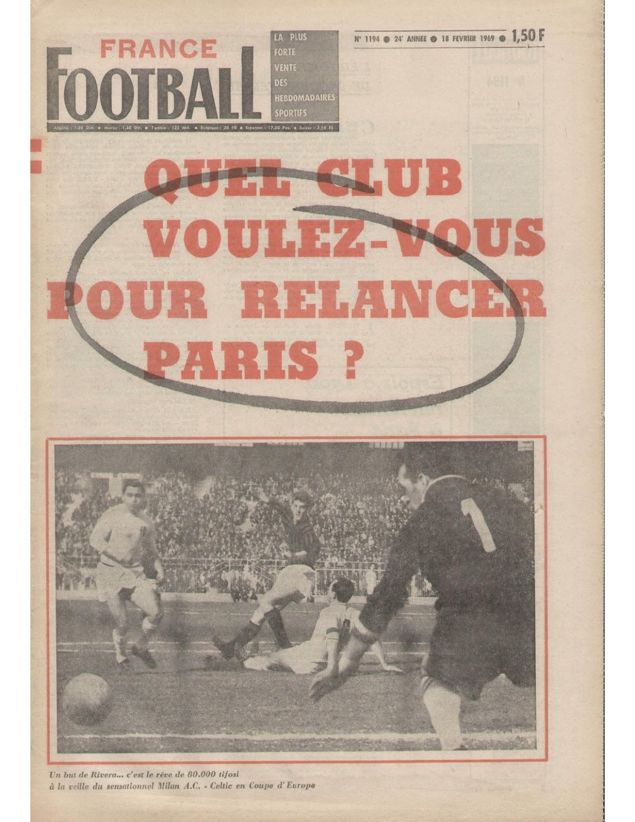 vendre journaux france football magazine