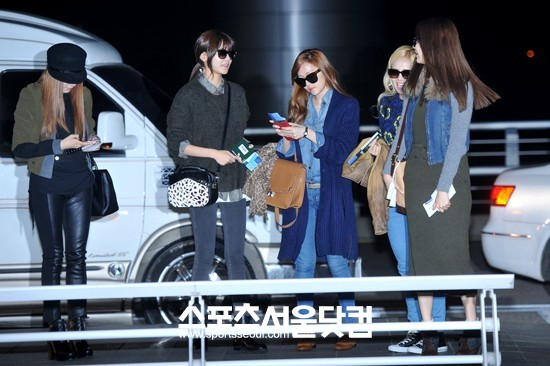 SNSD Airport Fashion at Incheon 01