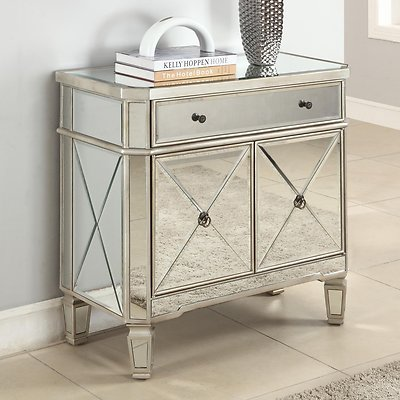 mirrored side table pier one 3