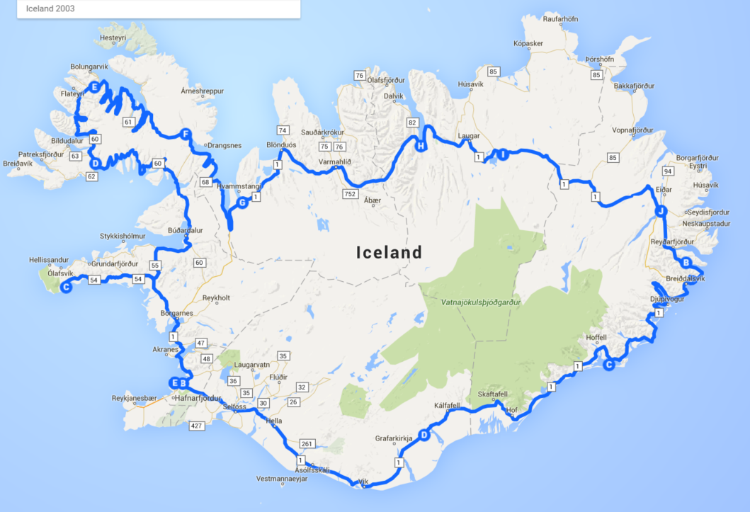 Create and share your road trip map – Map My World Trip