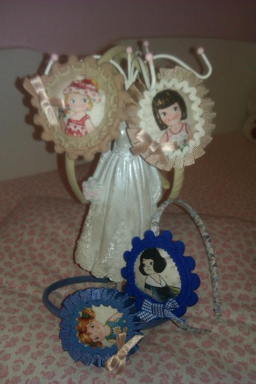 Tocados caritas muñecas