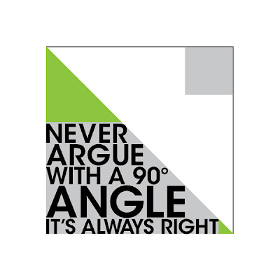 right angle poster with text