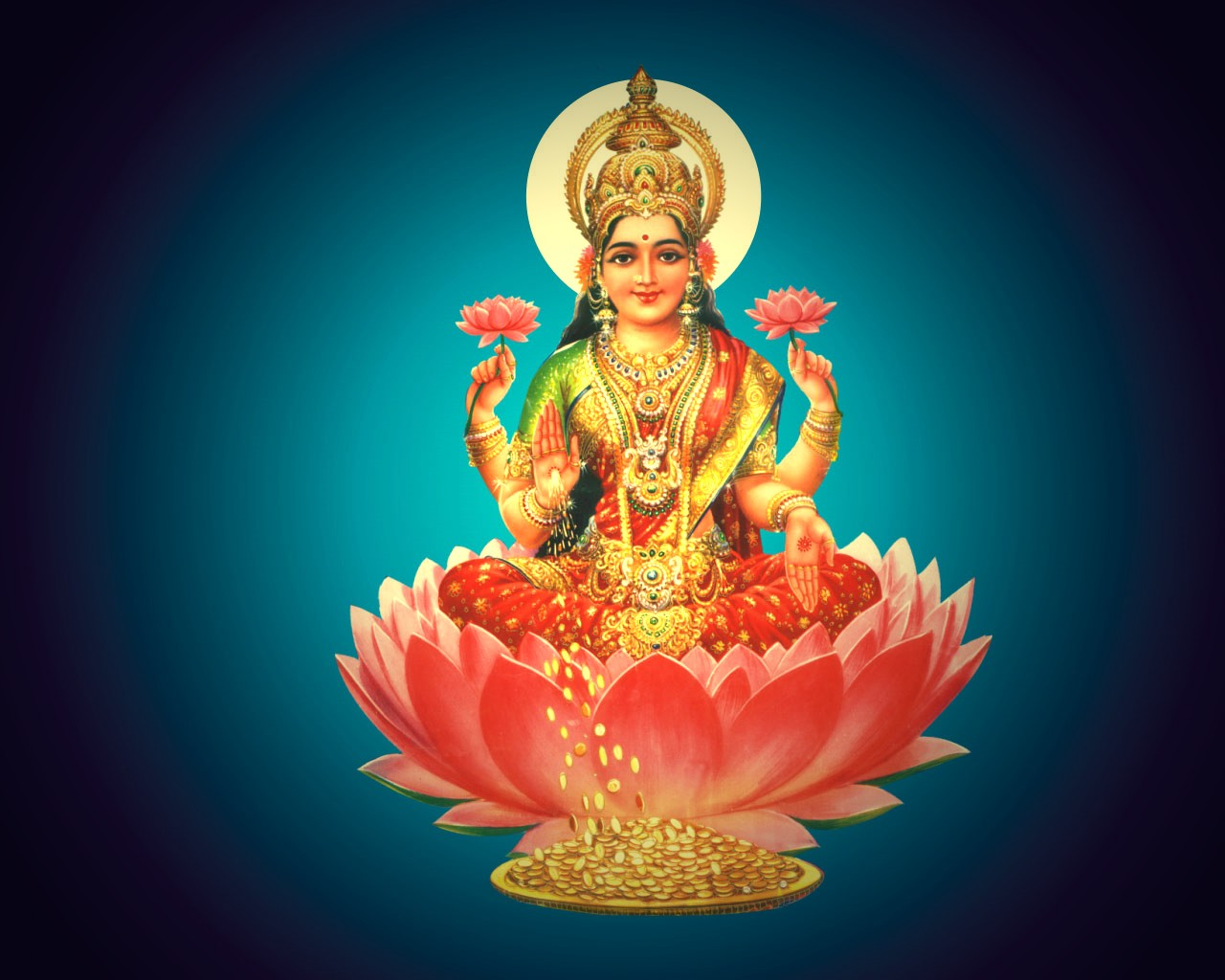 worship Goddess Laxmi in