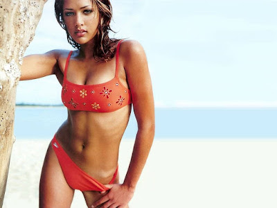 Lorraine Van Wyk Red Bikini Wallpaper