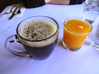 Coffee and fresh-squeezed orange juice