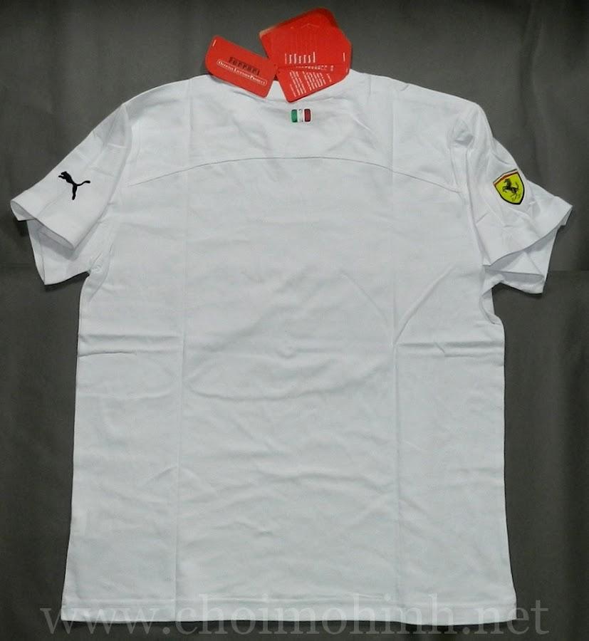 Áo thun Ferrari Puma WHITE back