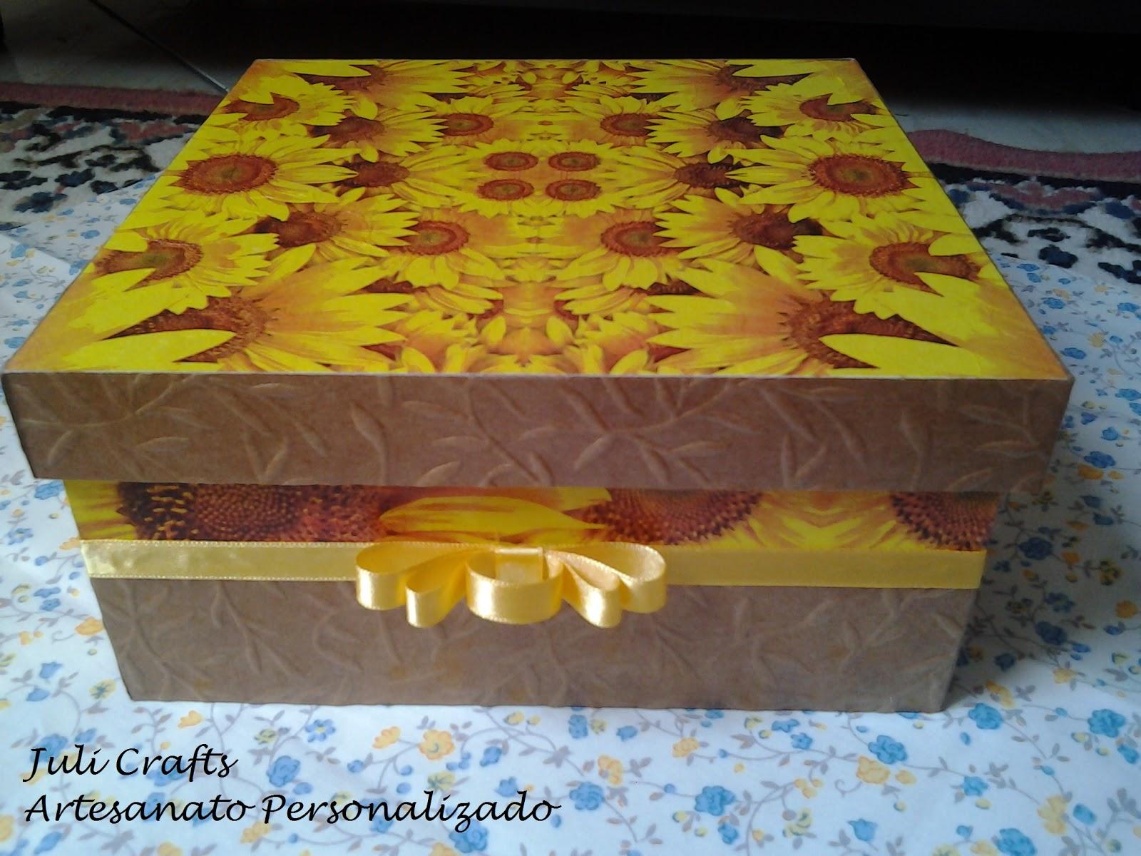 Artesanato Goiania Go ~ Juli Crafts Artesanato Personalizado Caixa MDF Girassol