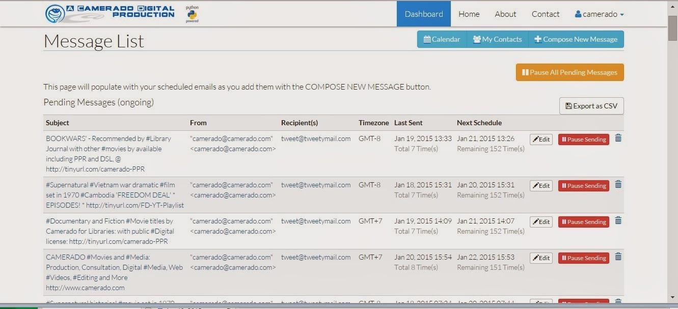 New App from Camerado Digital lets users send Delayed